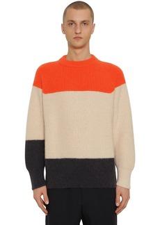 Jil Sander Striped Mohair & Wool Knit Sweater
