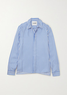 Jil Sander Striped Silk-satin Shirt