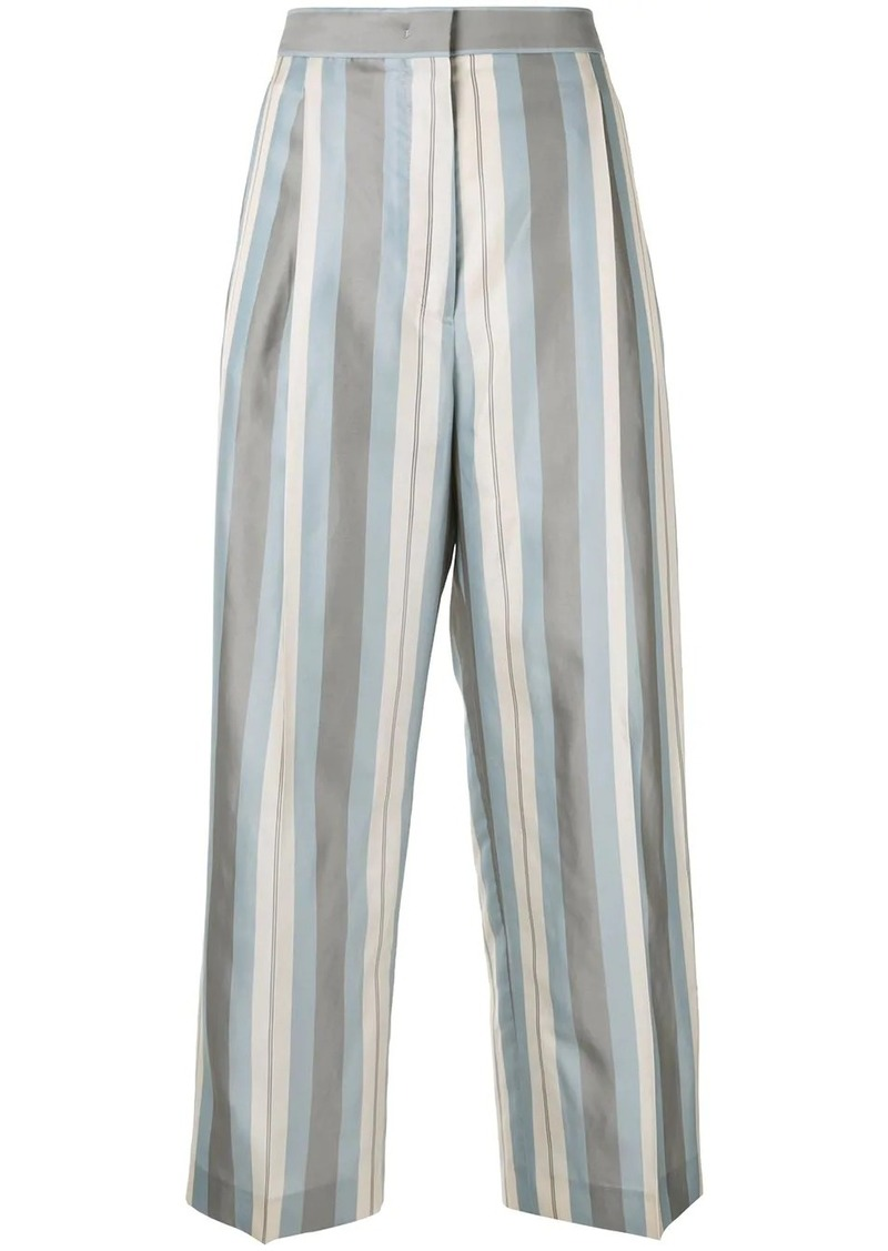 Jil Sander striped straight trousers