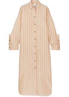 Jil Sander Striped Twill Maxi Dress