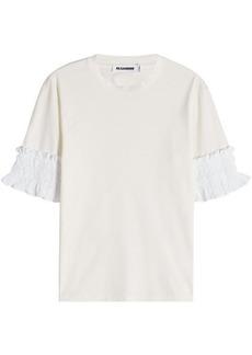Jil Sander T-Shirt with Ruffled Sleeves
