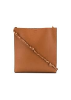 Jil Sander Tangle large leather tote bag