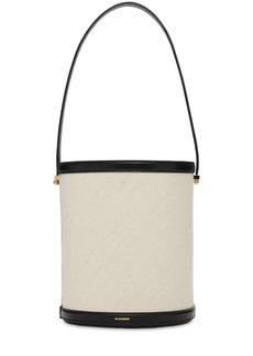 Jil Sander Taos Cotton & Linen Bucket Bag