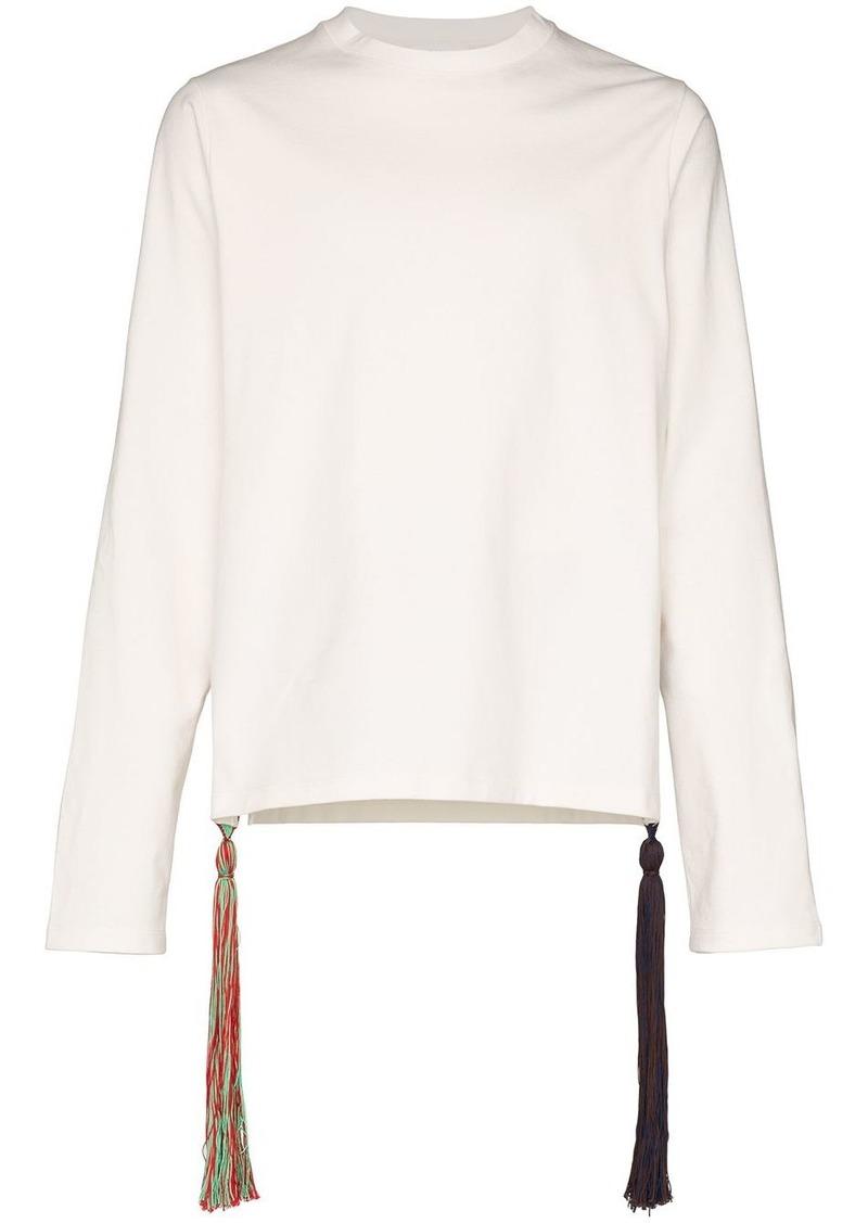 Jil Sander tassel long-sleeved T-shirt