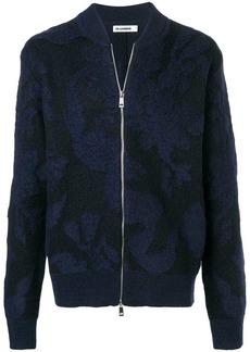 Jil Sander textured bomber jacket