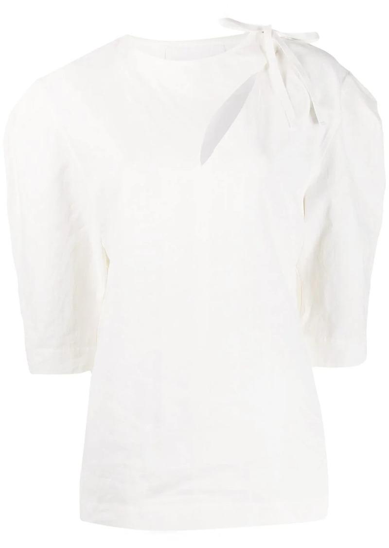 Jil Sander tie fastening blouse