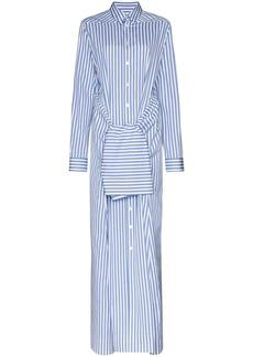 Jil Sander tie-waist maxi shirt dress