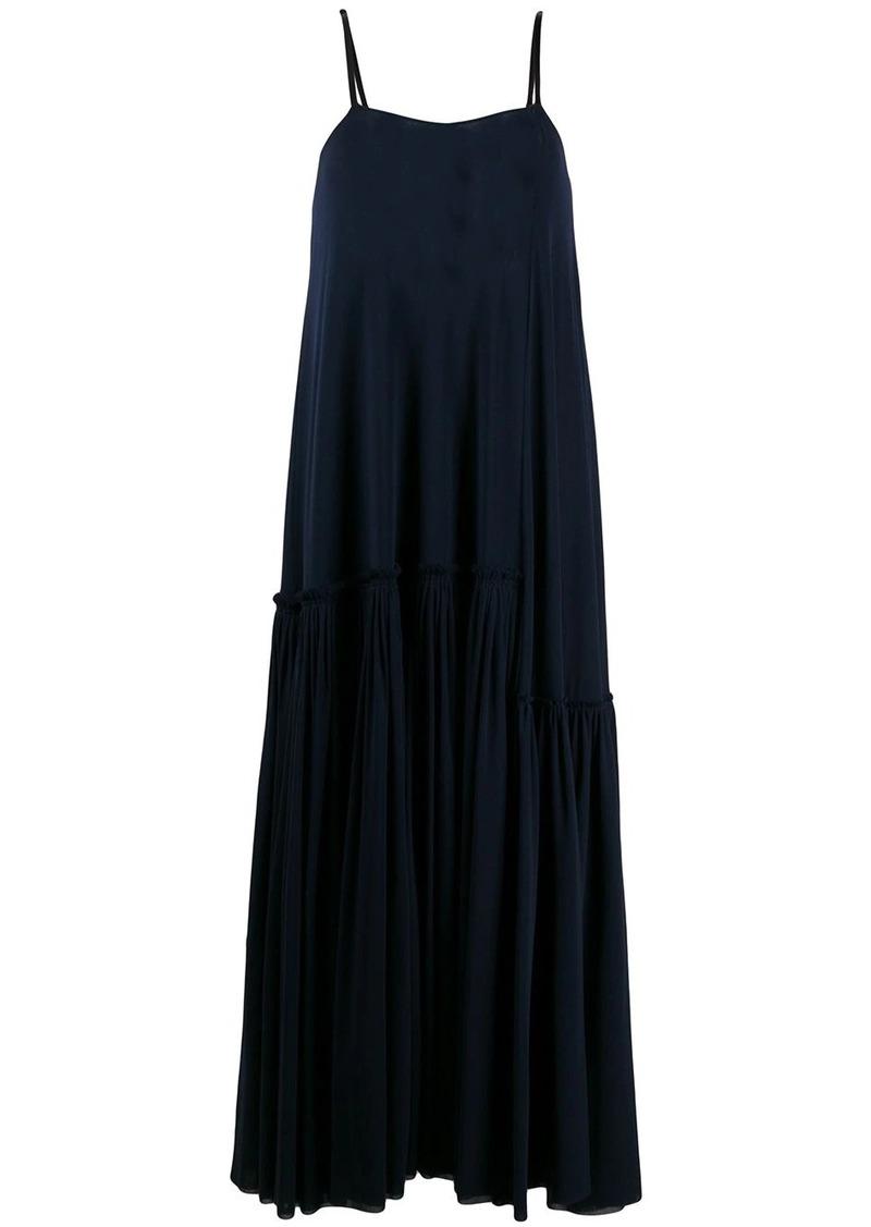 Jil Sander tiered pleated hem maxi dress