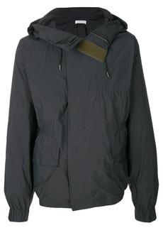Jil Sander touch strap hooded jacket