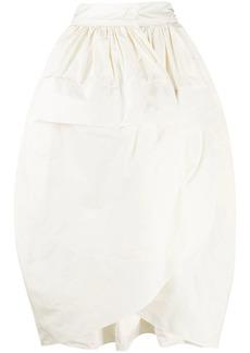 Jil Sander tulip mid-length skirt