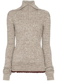Jil Sander turtleneck ribbed knit jumper
