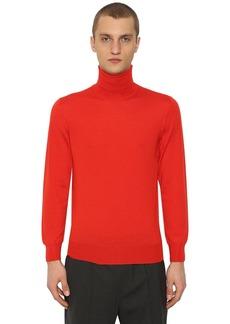 Jil Sander Turtleneck Wool & Silk Sweater