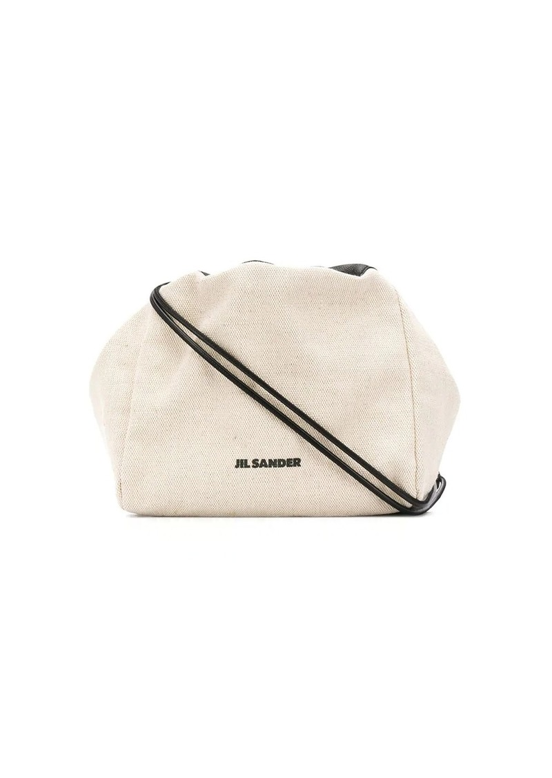 Jil Sander two tone drawstring shoulder bag