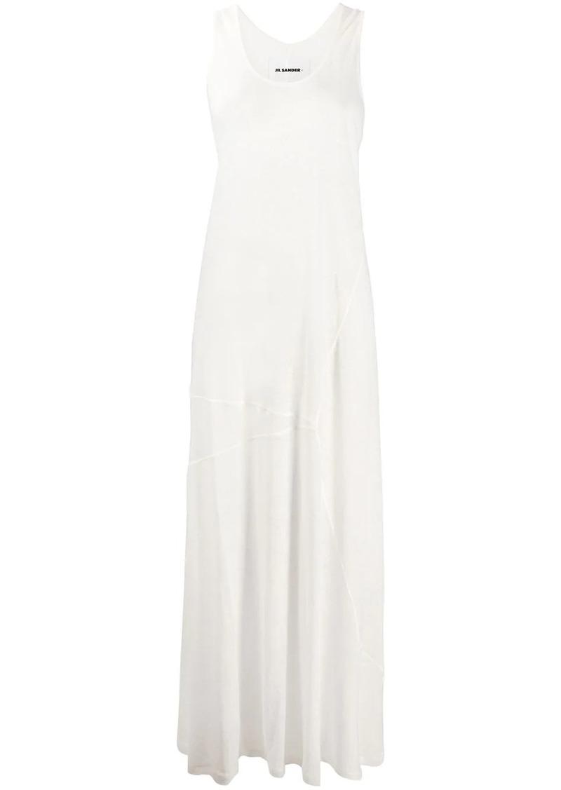Jil Sander U-neck maxi dress