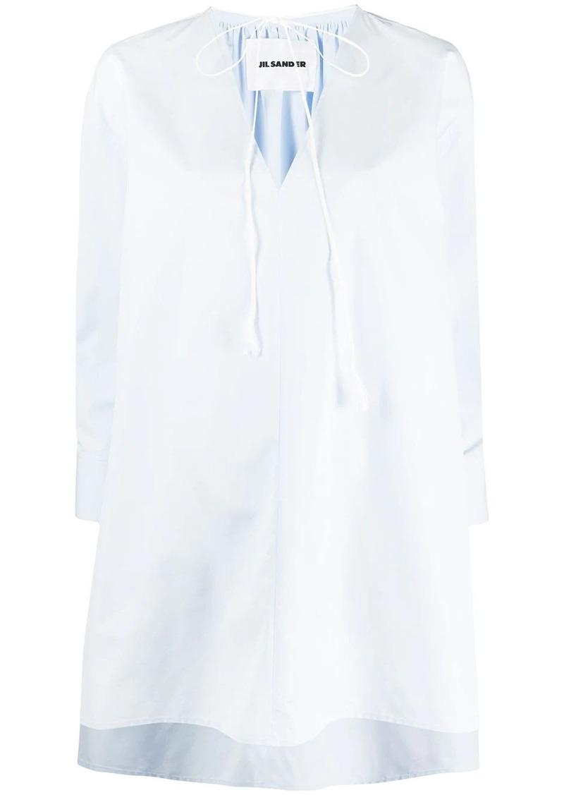 Jil Sander V-neck cotton shirt dress