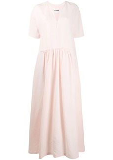 Jil Sander V-neck maxi dress