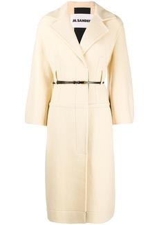 Jil Sander virgin wool belted coat
