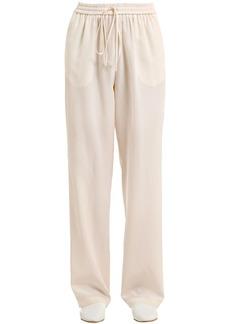 Jil Sander Washed Crepe De Chine Silk Pants