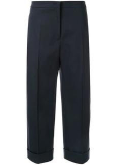 Jil Sander wide leg cropped trousers