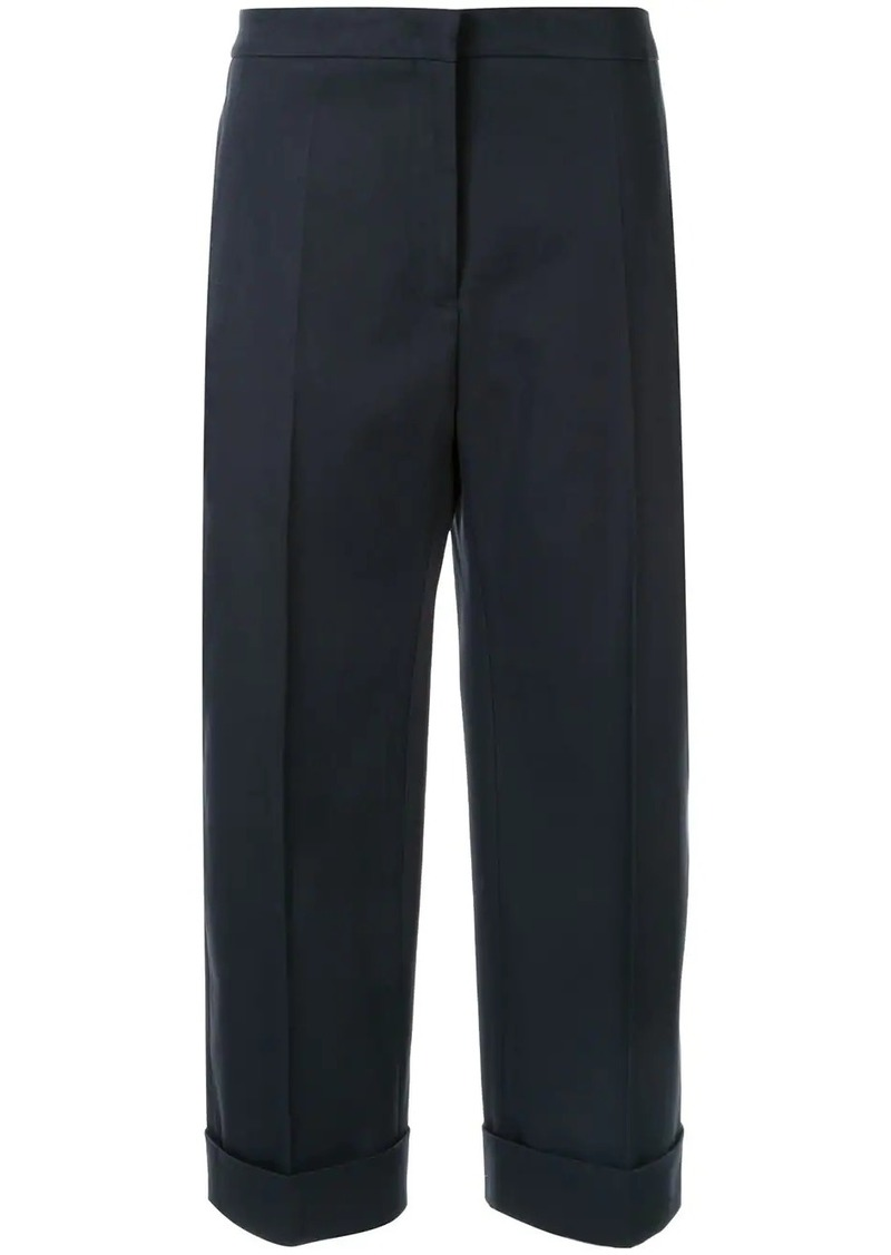 Jil Sander wide leg cropped trousers