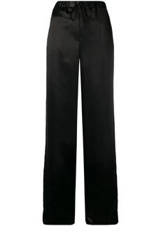 Jil Sander wide leg satin trousers