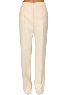 Jil Sander Wide Leg Stretch Wool Pants