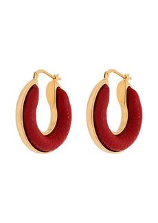 Jil Sander Wood two-tone hoop earrings