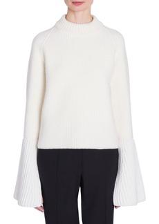 Jil Sander Wool & Cashmere Flare Cuff Sweater