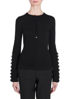 Jil Sander Wool Buttoned Knit Sweater