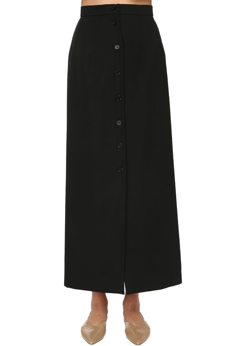 Jil Sander Wool Grain De Poudre Skirt
