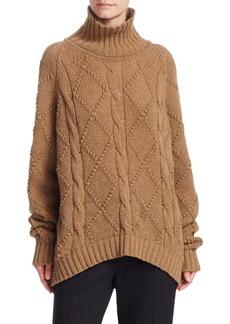 Jil Sander Wool High-Neck Knit Sweater