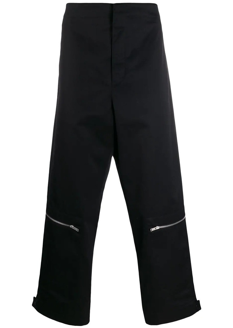 Jil Sander zip detail trousers