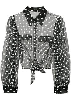 Jill Stuart Bette sheer blouse