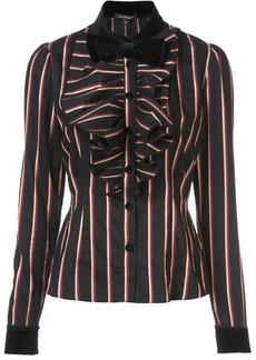 Jill Stuart bow striped shirt