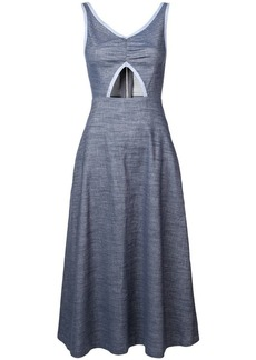 Jill Stuart cut out chambray midi dress