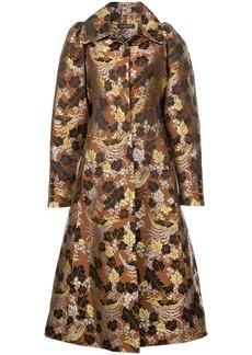 Jill Stuart floral jacquard coat