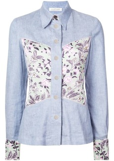 Jill Stuart floral panel denim shirt
