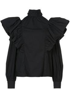 Jill Stuart frill frimmed blouse