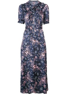 Jill Stuart frilled floral shirt dress