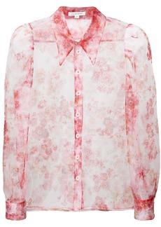 Jill Stuart Isabelli transparent style blouse