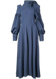 Jill Stuart cold shoulder stripe dress - Blue