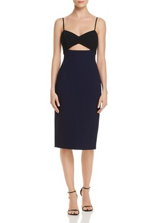Jill Stuart Cutout Color-Block Dress