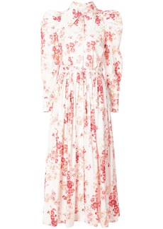 Jill Stuart puff shoulder floral dress - Pink & Purple