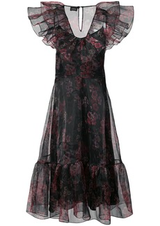 Jill Stuart ruffled floral dress - Black