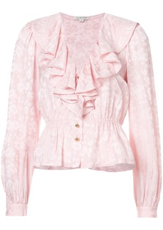 Jill Stuart Sara frilled blouse - Pink & Purple