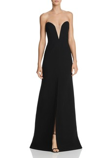Jill Stuart Strapless Illusion Gown