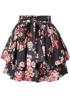 Jill Stuart Tasha layered shorts - Black
