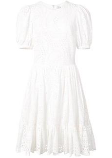 Jill Stuart Vika perforated dress - White