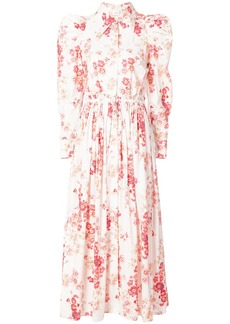Jill Stuart puff shoulder floral dress