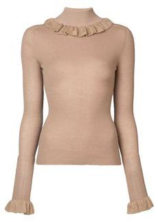 Jill Stuart ruffled collar knit sweater